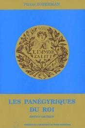 Les panégyriques du roi - Couverture - Format classique
