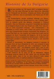 Histoire de la Bulgarie ; au pays des roses - 4ème de couverture - Format classique