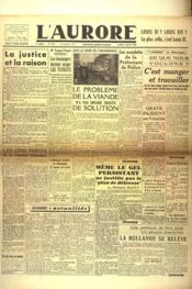 Aurore (L') N°435 du 05/01/1946 - Couverture - Format classique