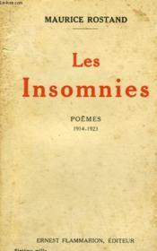 Les Insomnies. Poemes 1914 - 1923. - Couverture - Format classique
