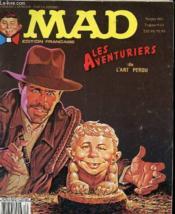 Mad N°5 - Editions Francaise - Les Aventuriers De L'Art Perdu - Couverture - Format classique