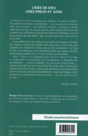 L'idée de dieu chez Freud et chez Jung - 4ème de couverture - Format classique