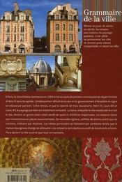 Paris Grand Siecle - 4ème de couverture - Format classique