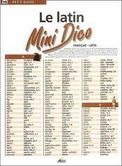 Mini Dico Francais/Latin - Intérieur - Format classique