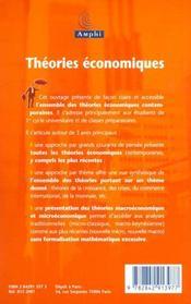 Theories economiques - 4ème de couverture - Format classique
