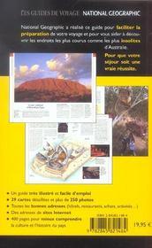 Australie - 4ème de couverture - Format classique