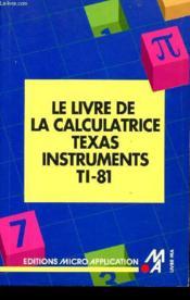 Livre Calculatrice Ti-81 - Couverture - Format classique