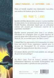 No man's land - 4ème de couverture - Format classique