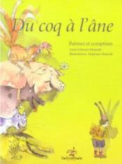 Du coq à l'âne ; poèmes et comptines - Couverture - Format classique