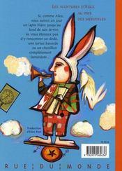 Les aventures d'Alice au pays des merveilles - 4ème de couverture - Format classique