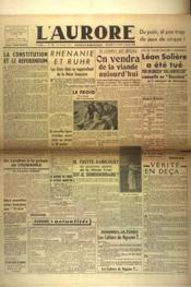 Aurore (L') N°436 du 06/01/1946 - Couverture - Format classique