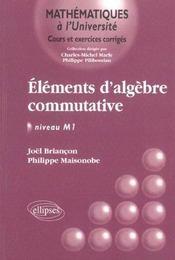 Elements D'Algebre Commutative ; Niveau M1 - Intérieur - Format classique