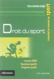 Droit du sport - Intérieur - Format classique