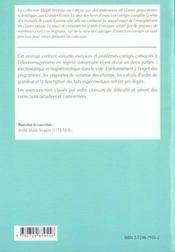 Electromagnetisme 1re Annee Pcsi-Mpsi-Ptsi Exercices Corriges - 4ème de couverture - Format classique