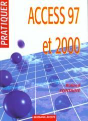 Pratiquer access 97 et 2000 - Couverture - Format classique