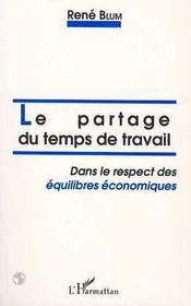 Le Partage Du Temps De Travail Dans Le Respect Des Equilibres Economiques - Intérieur - Format classique