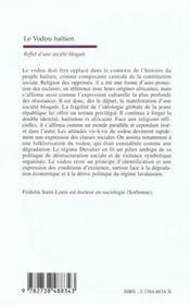 Le Vaudou Haitien ; Reflet D'Une Societe Bloquee - 4ème de couverture - Format classique