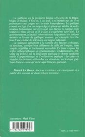 Parlons Gaelique - 4ème de couverture - Format classique