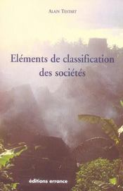 Elements De Classification Des Societes - Intérieur - Format classique