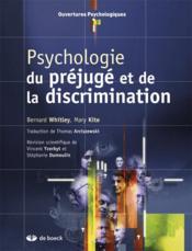 Psychologie du préjugé et de la discrimination - Couverture - Format classique
