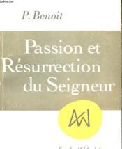 Passion Et Resurrection Du Seigneur - Couverture - Format classique