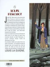 Louis Ferchot t.3 ; la caserne - 4ème de couverture - Format classique