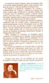 Clientèles européenne pour marabouts d'Afrique noire ; du magico-religieux dans une société moderne - 4ème de couverture - Format classique