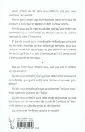 Anne De Guigne - La Saintete De L'Enfance - 4ème de couverture - Format classique