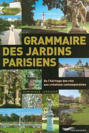 Grammaire Des Jardins Parisiens - Intérieur - Format classique