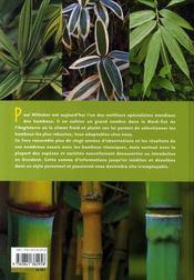 Bambous rustiques ; apprivoiser le dragon - 4ème de couverture - Format classique