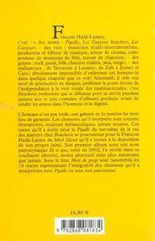 Mots de gorge - 4ème de couverture - Format classique