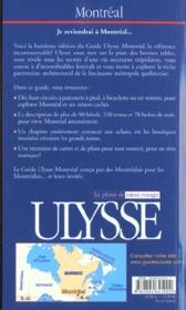 Montreal ; Edition 2002-2003 - 4ème de couverture - Format classique