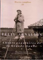 Chants populaires de la grande Lande t.1 - Couverture - Format classique