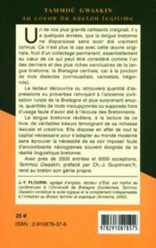 Tammou Gwaskin ; au coeur du breton légitime - 4ème de couverture - Format classique