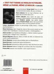 La passion de la victime - 4ème de couverture - Format classique