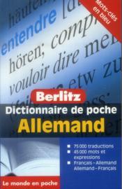 Dictionnaire de poche Berlitz ; français-allemand / allemand-français - Couverture - Format classique