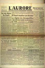 Aurore (L') N°438 du 09/01/1946 - Couverture - Format classique