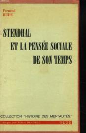 Stendhal Et La Pensee Sociele De Son Temps - Couverture - Format classique