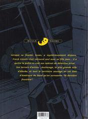Frank lincoln t.1 ; la loi du grand nord - 4ème de couverture - Format classique