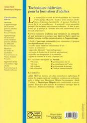 Techniq Theatrale Form Adultes - 4ème de couverture - Format classique