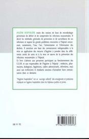 Hygiene Hospitaliere - 4ème de couverture - Format classique