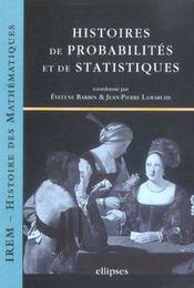 Histoires De Probabilites Et De Statistiques - Intérieur - Format classique