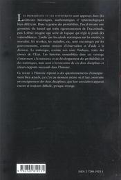 Histoires De Probabilites Et De Statistiques - 4ème de couverture - Format classique