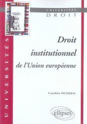 Droit institutionnel de l'union européenne - Intérieur - Format classique