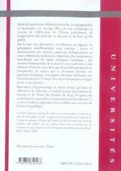 Droit institutionnel de l'union européenne - 4ème de couverture - Format classique