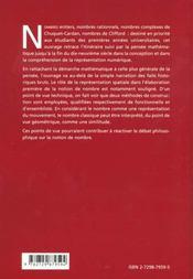 La Construction Des Nombres Histoire Et Epistemologie - 4ème de couverture - Format classique