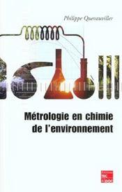 Metrologie en chimie de l'environnement - Intérieur - Format classique