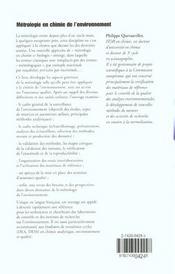 Metrologie en chimie de l'environnement - 4ème de couverture - Format classique