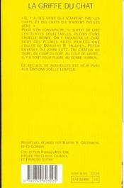 La Griffe Du Chat - 4ème de couverture - Format classique