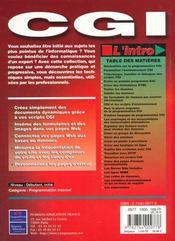 L'Intro Cgi - 4ème de couverture - Format classique
